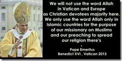 Kalimah Allah Agenda kristian sedunia