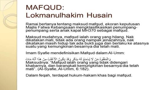 Mafqud - Orang Hilang