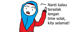 Wanita solat tanpa telekung tutup lengan