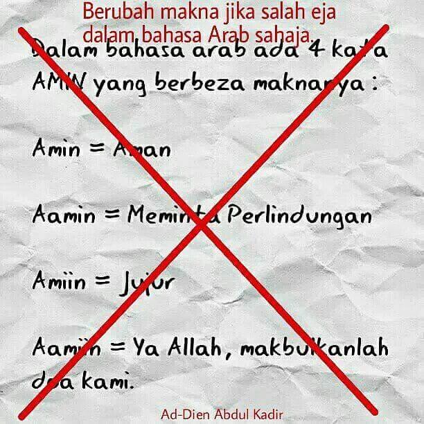 Adakah Salah Eja Dalam Bahasa Melayu Mengubah Maksud 171 Fitrah Islami Online
